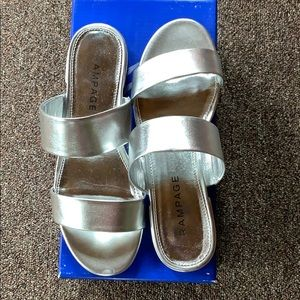 New Silver Rampage Sandals
